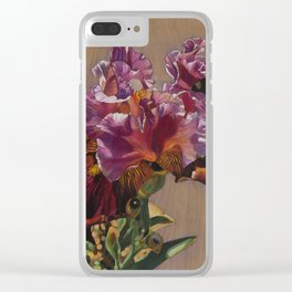 Sunkissed Pink Iris Clear iPhone Case