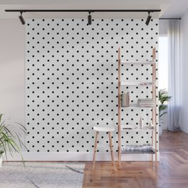 Minimal - Small black polka dots on white - Mix & Match with Simplicty of life Wall Mural