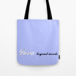 Love Beyond Words (Light Blue) Tote Bag