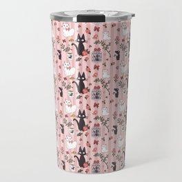 Jiji Cat Pattern Travel Mug