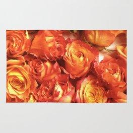Cluster Of Orange Roses Rug