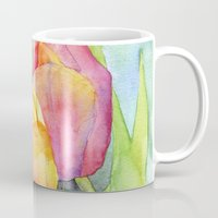 tulips Mugs featuring Tulips by Susan Windsor