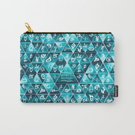 Blackthorn Family Motto Mosaic Carry-All Pouch