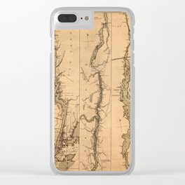 Map Of The Hudson River 1777 Clear iPhone Case