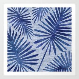 Mid Century Meets Mediterranean - Tropical Print Art Print