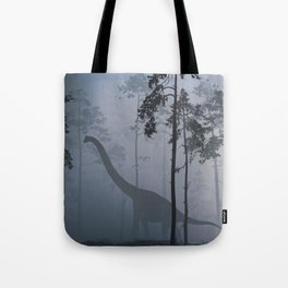 Dinosaur by Moonlight Tote Bag