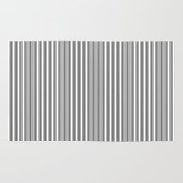 Trendy French Black and White Mattress Ticking Double Stripes Rug