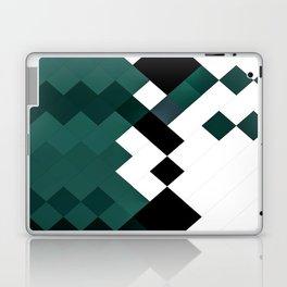 Emerald Green White Black Geometrical Pattern Laptop & iPad Skin