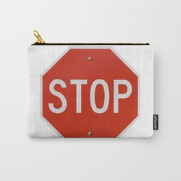 Red Traffic Stop Sign Carry-All Pouch