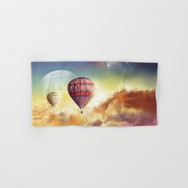 clouds,sky and ballons Hand & Bath Towel