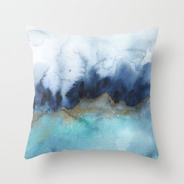 Mystic abstract watercolor Throw Pillow