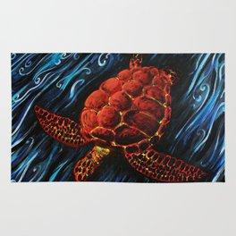 Sea Turtle, Spirit Animal Print Rug