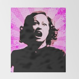 Mommie Dearest - No Wire Hangers, Ever - Pop Art Throw Blanket