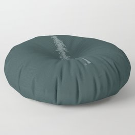 Love in the forest - green Floor Pillow