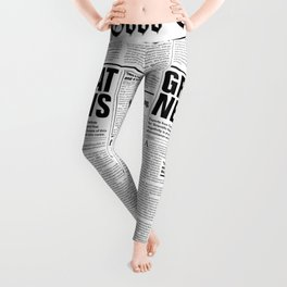 The Good Times Vol. 1, No. 1 / Newspaper with only good news Leggings