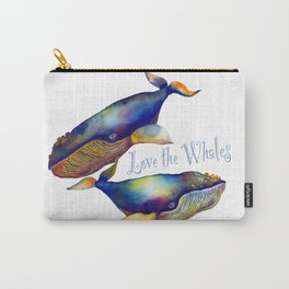 Love the Whales Carry-All Pouch