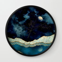 Indigo Sky Wall Clock