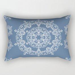 Blue winter. White snowflakes. Rectangular Pillow