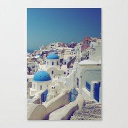 Blue Domes, Oia, Santorini, Greece Canvas Print