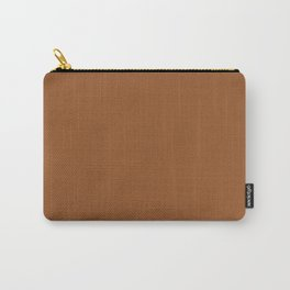 Leather Brown Carry-All Pouch