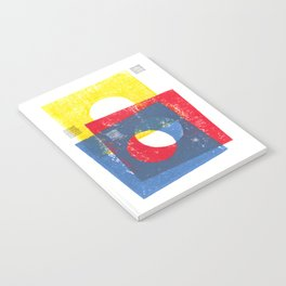 Basic in red, yellow and blue Notebook