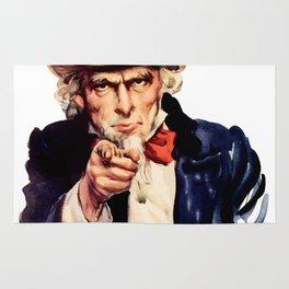 Uncle Sam Pointing Finger Rug