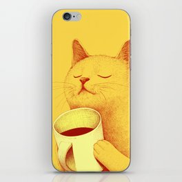 Coffe cat iPhone Skin