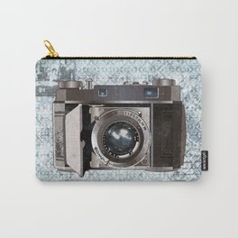 Blue Vintage Camera Art Carry-All Pouch
