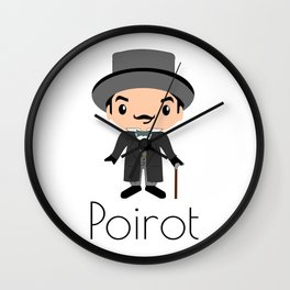 Hercule Poirot   Agatha Christie Wall Clock