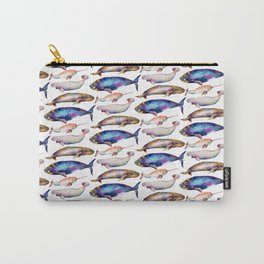 Four Whale Pattern Carry-All Pouch