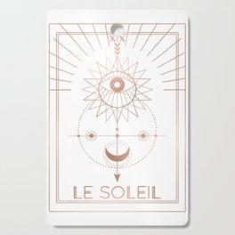 Le Soleil or The Sun Tarot White Edition Cutting Board