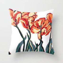 Tulip study 1 Throw Pillow