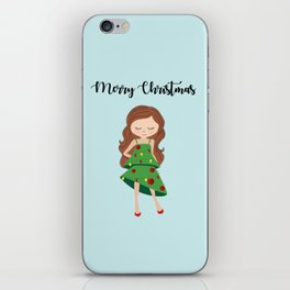 I am a Christmas Girl - Christmas tree inspired iPhone Skin