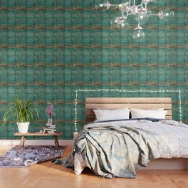 Rustic Teal Boards (Color) Wallpaper