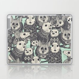 sweater mice mint Laptop & iPad Skin