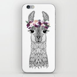 FLOWER GIRL ALPACA iPhone Skin