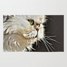 White Persian Cat Rug