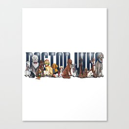 Doctor Who FanArt Dogs Canvas Print
