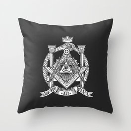 Secret Society Throw Pillow