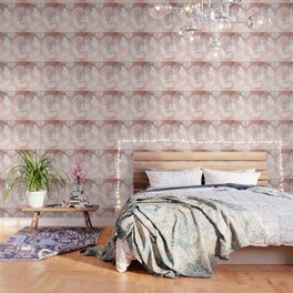 Rose Gold Pink Antique World Map by Nature Magick Wallpaper