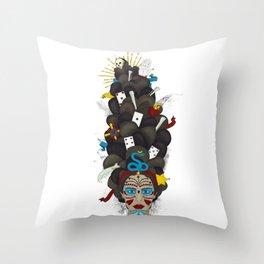 The Voodoo Queen Throw Pillow
