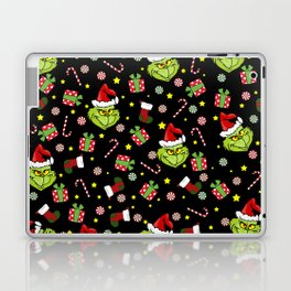 Grinch pattern Laptop & iPad Skin
