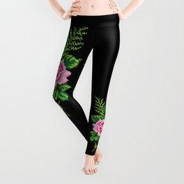 Pixel Rose Leggings
