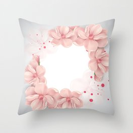 Flower crown Throw Pillow