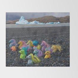 My Little Sea Ponies in Patagonia Throw Blanket