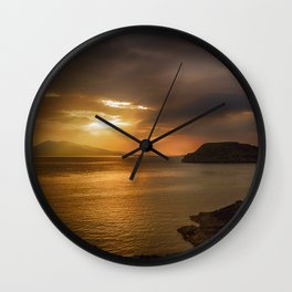 Sunset at Lismore Island Wall Clock