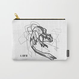 Geometric Striped Possum Carry-All Pouch