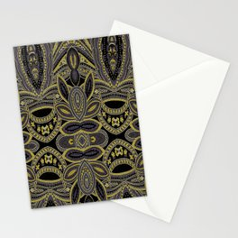 Paisley 5 Gold Stationery Cards