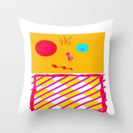 Mustard Dachi Throw Pillow