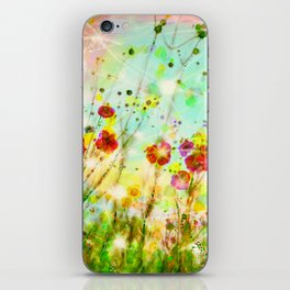 Whimsical Red Poppy Field   iPhone Skin